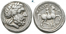 Eastern Europe. Imitation of Philip II of Macedon 200-0 BC. Tetradrachm AR