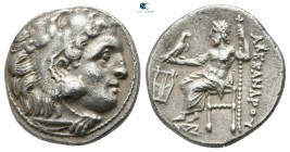 Kings of Macedon. Kolophon. Philip III Arrhidaeus 323-317 BC. In the name and types of Alexander III. Struck under Menander or Kleitos, circa 322-319 ...