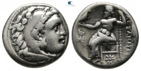 Kings of Macedon. Kolophon. Philip III Arrhidaeus 323-317 BC. Struck under Menander of Kleitos, in the name and types of Alexander III. Drachm AR