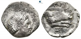 Kings of Paeonia. Patraos 335-315 BC. Drachm AR