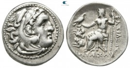 Kings of Thrace. Lampsakos. Macedonian. Lysimachos 305-281 BC. In the types of Alexander III of Macedon. Drachm AR