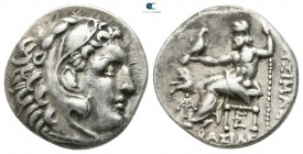 Kings of Thrace. Lysimacheia (?). Macedonian. Lysimachos 305-281 BC. In the types of Alexander III of Macedon. Drachm AR