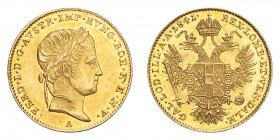 AUSTRIA. Ferdinand I, 1835-48. Gold Ducat 1841-A, Vienna. 3.49 g. Fb. 481; J. 247; Schl. 265. In US plastic holder, graded PCGS AU58, certification nu...