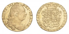 GREAT BRITAIN. George III, 1760-1820. Gold Guinea 1776, London. 8.35 g. S-3728; Fb-355. AVF.