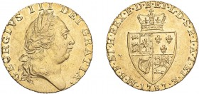 GREAT BRITAIN. George III, 1760-1820. Gold Guinea 1787, London. 8.35 g. S-3729. GVF.