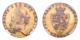 GREAT BRITAIN. George III, 1760-1820. Gold Half-Guinea 1794, London. 4.2 g. S-3735; Fr-362. In US plastic holder, graded NGC AU58.