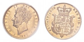 GREAT BRITAIN. George IV, 1820-30. Gold Sovereign 1830, London. 7.99 g. S-3829B; Fr-383. In US plastic holder, graded PCGS AU50, certification number ...