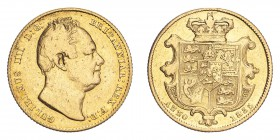 GREAT BRITAIN. William IV, 1830-37. Gold Sovereign 1835, London. 7.99 g. S-3829B. AVF, cleaned.