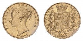 GREAT BRITAIN. Victoria, 1837-1901. Gold Sovereign 1843, London. Shield. 7.99 g. S-3852; Fr-387. VF, hairlines.