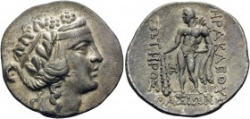 ISLANDS OFF THRACE, Thasos. Circa 168/7-148 BC. Tetradrachm (Silver, 32 mm, 16.48 g, 12 h). Head of youthful Dionysos to right, wearing ivy wreath. Re...