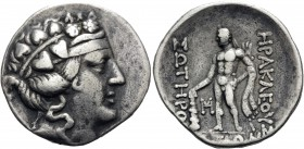 ISLANDS OFF THRACE, Thasos. Circa 168/7-148 BC. Tetradrachm (Silver, 32 mm, 16.43 g, 11 h). Head of youthful Dionysos to right, wearing ivy wreath. Re...