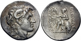 KINGS OF THRACE. Lysimachos, 305-281 BC. Tetradrachm (Silver, 31.5 mm, 17.06 g, 12 h), Lampsakos, c. 297-281. Diademed head of Alexander the Great to ...