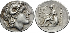 KINGS OF THRACE. Lysimachos, 305-281 BC. Tetradrachm (Silver, 30 mm, 17.57 g, 1 h), Lampsakos, c. 297-281. Diademed head of Alexander the Great to rig...