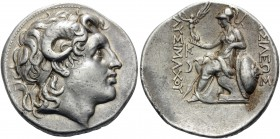 KINGS OF THRACE. Lysimachos, 305-281 BC. Tetradrachm (Silver, 30 mm, 16.87 g, 11 h), Lampsakos, c. 297-281. Diademed head of Alexander the Great to ri...