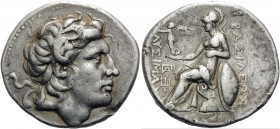 KINGS OF THRACE. Lysimachos, 305-281 BC. Tetradrachm (Silver, 29 mm, 17.11 g, 11 h), Magnesia, c. 297/6-282/1. Diademed head of Alexander the Great to...