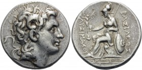 KINGS OF THRACE. Lysimachos, 305-281 BC. Tetradrachm (Silver, 27.5 mm, 16.92 g, 12 h), Magnesia, c. 297-281. Diademed head of Alexander the Great to r...