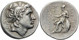 KINGS OF THRACE. Lysimachos, 305-281 BC. Tetradrachm (Silver, 30 mm, 17.08 g, 3 h), Amphipolis, c. 288/7-282/1. Diademed head of Alexander the Great t...