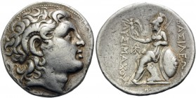 KINGS OF THRACE. Lysimachos, 305-281 BC. Tetradrachm (Silver, 30 mm, 17.05 g, 3 h), Amphipolis, c. 288/7-282/1. Diademed head of Alexander the Great t...