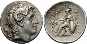 KINGS OF THRACE. Lysimachos, 305-281 BC. Tetradrachm (Silver, 30 mm, 17.06 g, 11 h), Smyrna, c. 287/6-282/1. Diademed head of Alexander the Great to r...