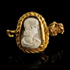 Roman Gold Medaillon with Cameo