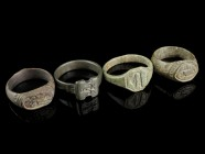 4 Bronze Rings