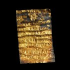 Roman Gold Foil with Curse/Magical Inscription