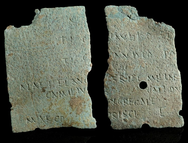 Two Roman Military Diploma Fragments