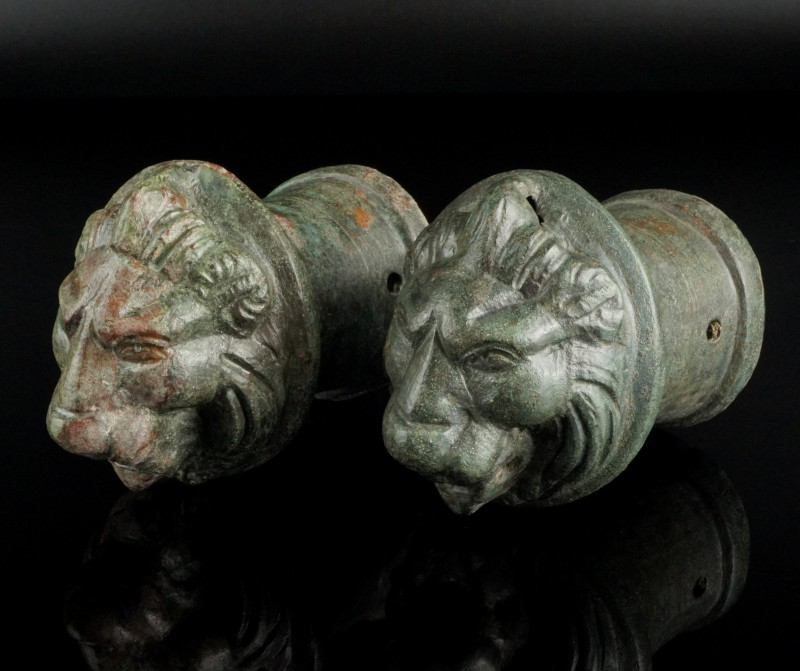 Heavy Roman Lion Head Appliques