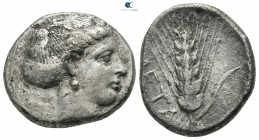 Lucania. Metapontion circa 400-340 BC. Stater AR