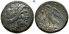 Sicily. Syracuse. Hieron II in association with Ptolemy II Philadelphos circa 264-260 BC. In the style of contemporary standard Ptolemaic coinage from...