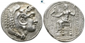 "Kings of Macedon. Uncertain mint. Alexander III ""the Great"" 336-323 BC. Imitative issue, copying an issue of Babylon, circa 324/3 BC. Tetradrachm AR"