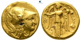"Kings of Macedon. Uncertain mint or Sinope. Alexander III ""the Great"" 336-323 BC. Fourrée Stater"