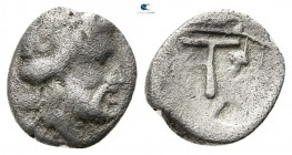 Akarnania. Uncertain mint (Oiniadai or Stratos) circa 330-280 BC. Trihemiobol AR