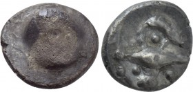 "CENTRAL EUROPE. Northern Hungary & West/Central Slovakia. Obol (2nd-1st centuries BC). ""Athena Alkis"" type."