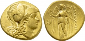 KINGS OF MACEDON. Alexander III 'the Great' (336-323 BC). GOLD Stater. Ephesos.