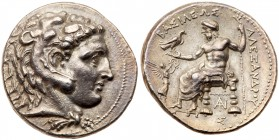 Macedonian Kingdom. Alexander III the Great. Silver Tetradrachm (17.19 g), 336-323 BC. Tarsos, under Philip III, 323-317 BC. Head of Herakles right, w...