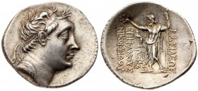 Bithynian Kingdom. Nikomedes III Euergetes. Silver Tetradrachm (16.62 g), ca. 127-94 BC. BE 185 (113/2 BC). Diademed head of Nikomedes III right. Reve...