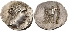Bithynian Kingdom. Nikomedes IV Philopator. Silver Tetradrachm (16.52 g), ca. 94-74 BC. BE 210 (88/7 BC). Diademed head of Nikomedes IV right. Reverse...