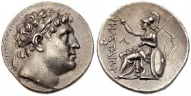 Pergamene Kingdom. Eumenes I, 263-241 BC. Silver Tetradrachm (17.11g). Struck circa 255-241 BC. Laureate head of Philetarios right. ΦIΛETAI...