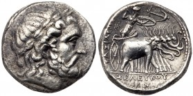 Seleukid Kingdom. Seleukos I Nikator. Silver Tetradrachm (16.70 g), 312-281 BC. Seleukeia on the Tigris II, ca. 296/5-281 BC. Laureate head of Zeus ri...