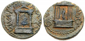Judaea, Herodian Dynasty. Pre Royal Coinage of Agrippa II. Struck under Nero. Caesarea Paneas, AD 65-68. Diva Poppaea and Diva Claudia. Æ (4.93 ...