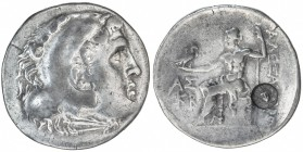 ASPENDOS: ca. 200 BC, AR tetradrachm (16.42g), year 22 (unknown era), S-5401, head of Herakles, wearing lion skin // Zeus seated, holding eagle, count...