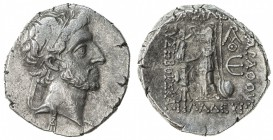 CAPPADOCIAN KINGDOM: Ariarathes X Eusebes Philapator, 42-36 BC, AR drachm (3.81g), year 5, S-7305, diademed king's head right, bearded // Athena stand...