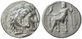 MACEDONIAN KINGDOM: Alexander III, the Great, 336-323 BC, AR tetradrachm (16.81g), Memphis, S-6721 ff, Price-3976, head of Herakles, wearing lion skin...