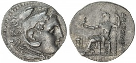 MACEDONIAN KINGDOM: Alexander III, the Great, late issue, ca. 180 BC, AR tetradrachm (17.04g), Pella, S-6721 style, head of Herakles, wearing lion ski...