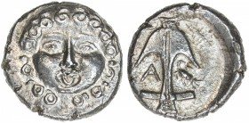THRACIAN CITIES: Danubian District, late 5th-4th centuries BC, AR drachm (2.84g), Apollonia Pontika, S-1655, SNG BMC-160, facing head of gorgoneion wi...