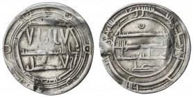 IDRISID: Idris I, 789-791, AR dirham (2.56g), Tudgha, AH174, A-419, crescent above reverse text, probably mount removed, but still very attractive, wi...