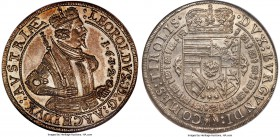 Archduke Leopold Taler 1632 MS66 NGC, Hall mint, KM629.2, Dav-3338B. A miraculous survivor for such a large type, which exemplifies the very notion of...