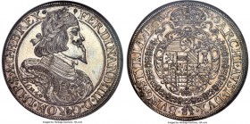 Ferdinand III Taler 1649 MS63 NGC, Graz mint, KM957, Dav-3190. Laureate, and armored, bust of Ferdinand III right. Rev. Crowned arms of Graz in order ...