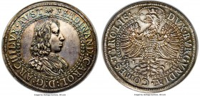 Archduke Ferdinand Charles 2 Taler ND (1646) MS64 NGC, Hall mint, KM934, Dav-3363. 57.42gm. A stellar large double-taler issue, which is both well-str...